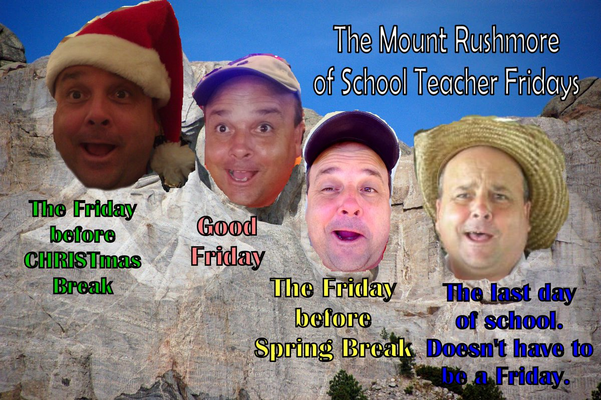 To my Twitter PLN! This Friday is a BIG ONE! It's the first #MountRushmore School Teacher Friday of the 2019 - 2020 school year! Make some memories this week! Don't count down the days, make the days count! #WeAreGR #txed #tlap #AlwaysBelievepic.twitter.com/NZCob7RxDU