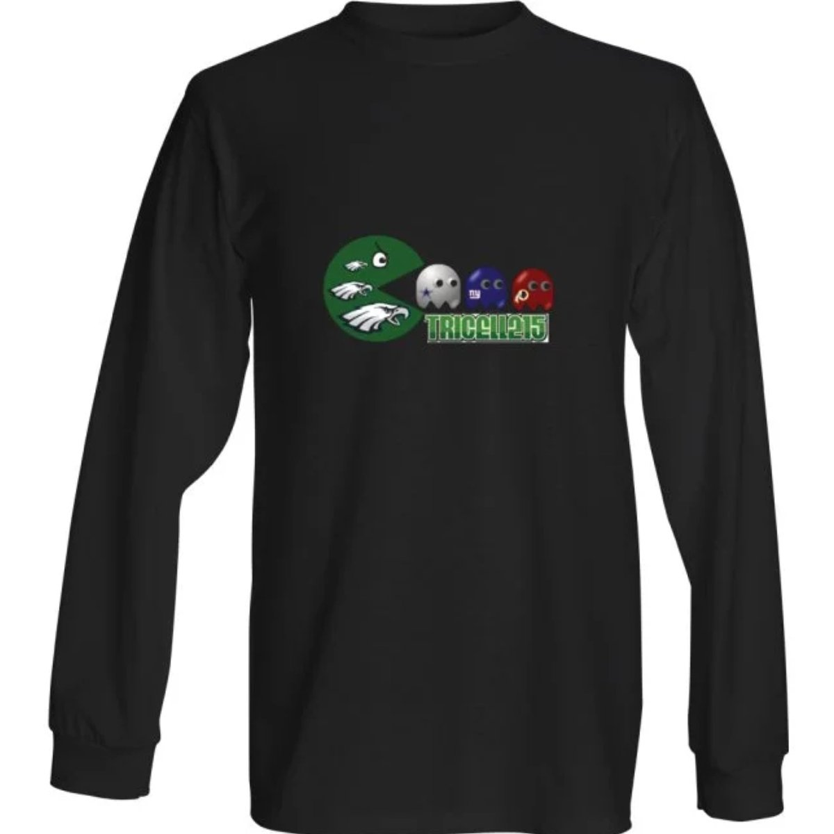 "$30.00 TRICELL 215- ""EAGLES PAC MAN "" T-SHIRT  Pre-shrunk 100% sofspun cotton  Breathable and lightweight fabric with superior softness  Order yours here: http://tricell215.bigcartel.com/   #tricell215  #longsleeve #Philadelphiaeagles  #nflpic.twitter.com/Y82IIBZnxF"