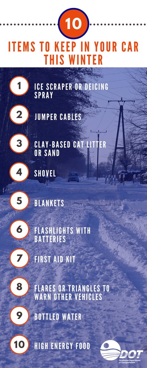 Image posted in Tweet made by Oklahoma Department of Transportation on December 16, 2019, 3:45 am UTC