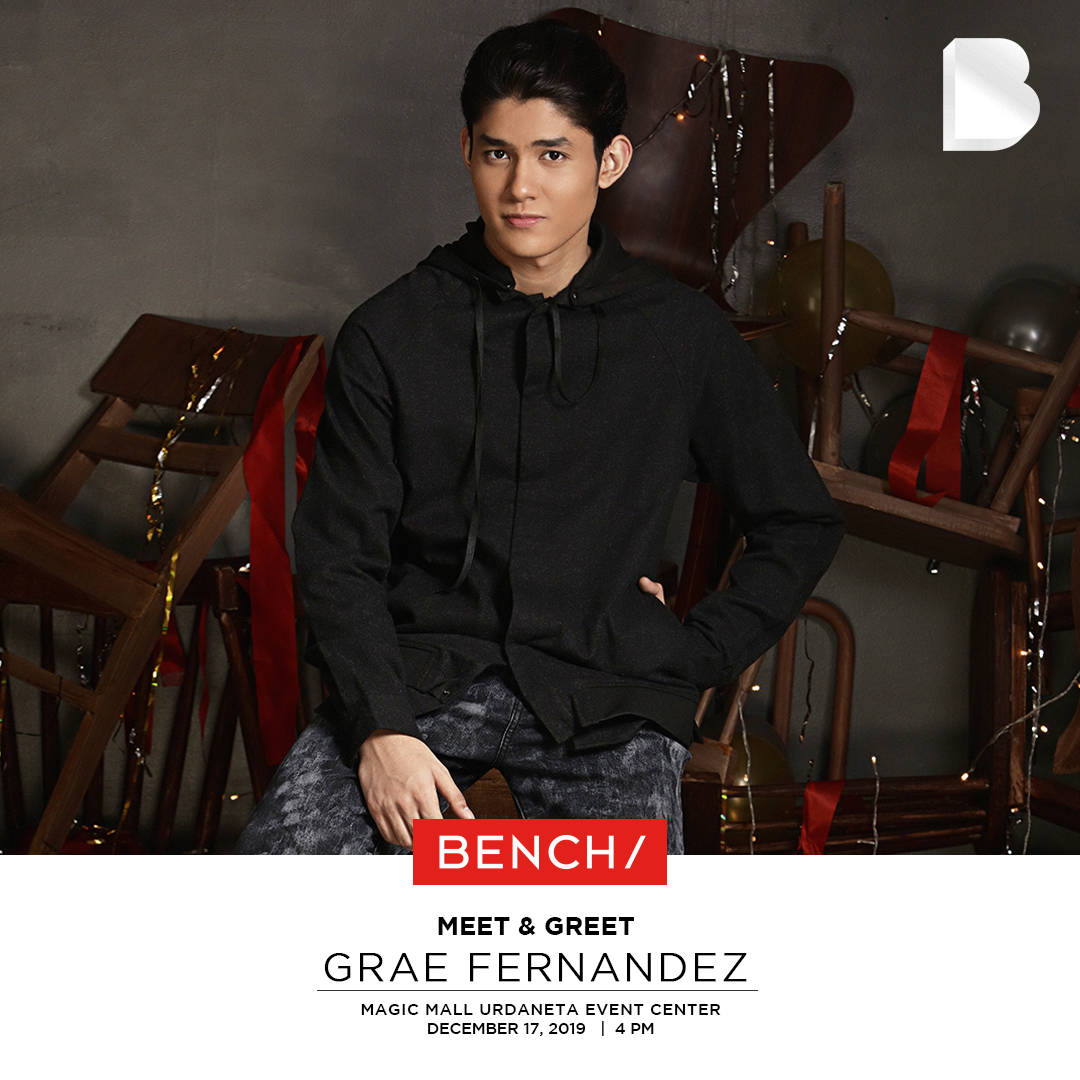 Hey there, Urdaneta! 👋 Ready for a Tuesdate with @graecamfer? 💛 Hang out with him at Magic Mall Urdaneta Event Center tomorrow, December 17! See you there at 4pm! 🔥 #BENCHEveryday