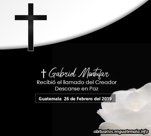 Obituario en Guatemala de Gabriel Montufar