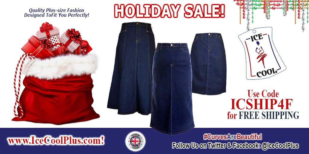 #HOLIDAY SALE! FREE SHIPPING with CODE ICSHIP4F !  High-Quality #PlusSize Denim Skirt fashion designed in the UK to fit you Perfectly! http://www.IceCoolPlus.com #CurvesAreBeautiful #PlusSizeFashion #DenimJeanSkirt #PlusSizeClothing #MadeInGBpic.twitter.com/J2fr3oBrGa