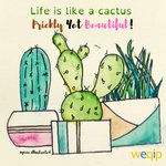 Image for the Tweet beginning: Life is like a cactus Prickly