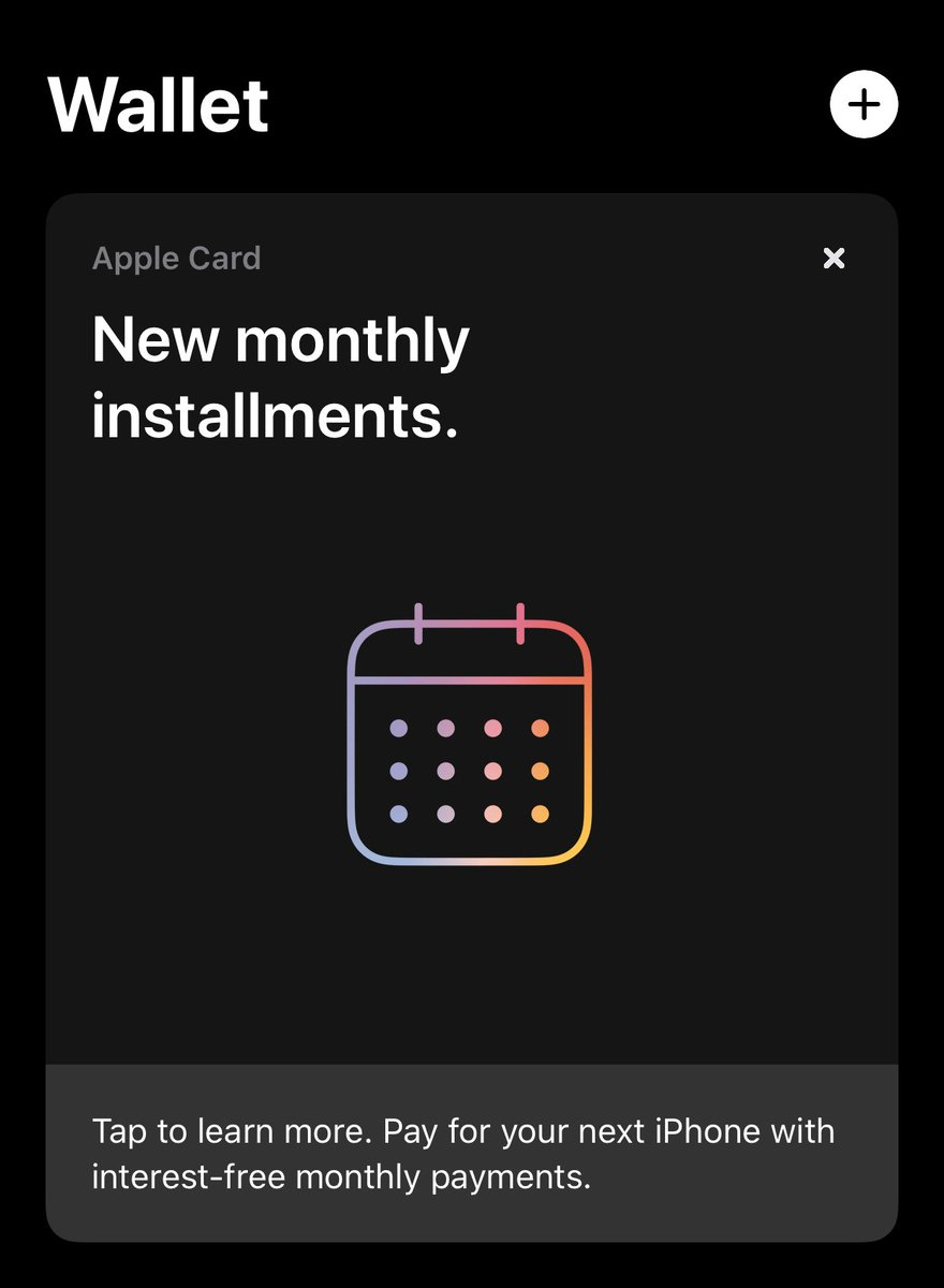 RT @mgsiegler: Wow, this is... aggressive. An almost full-screen self-ad on launch of the Apple Wallet app... https://t.co/v5ABveCx7P