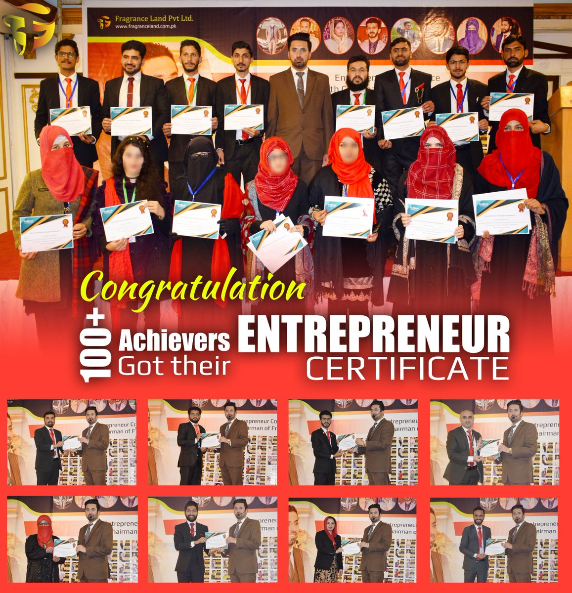 RT @LandFragrance: Congratulation to All Achievers of Entrepreneur Conference 100+ Candidate achieve their Entrepreneur Certificate #Congratulation #Achievers #Entrepreneur_Conference #conference #entrepreneurship #chairman_fragranceland #fragranceland #…pic.twitter.com/IPtCaxOwef