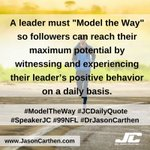 "Image for the Tweet beginning: A Leader must ""Model the"