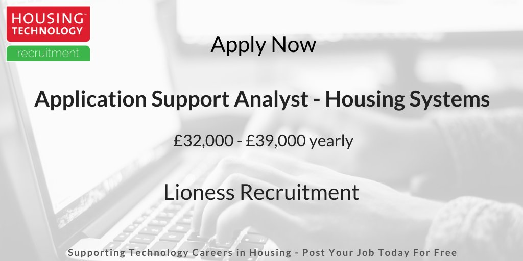 Closing soon: Housing Systems Application Support Analyst job vacancy @LionessRecruit. For more details and to apply visit http://ow.ly/dhCh50xfGxN  #housingjobs #techjobs #ITjobs #hiring #jobspic.twitter.com/unSbhFHeVb
