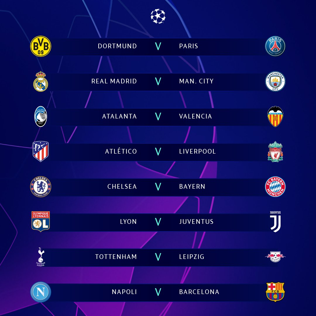 Round of 16 draw 🔥  Sum up your reaction with a GIF 📱  #UCLdraw