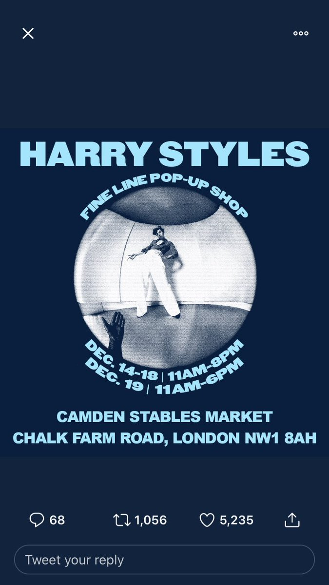 So has anyone been to the pop up store in London yet 👀im going Wednesday with my sister #FineLine #HarryStyles #FINELINEPOPUP RT