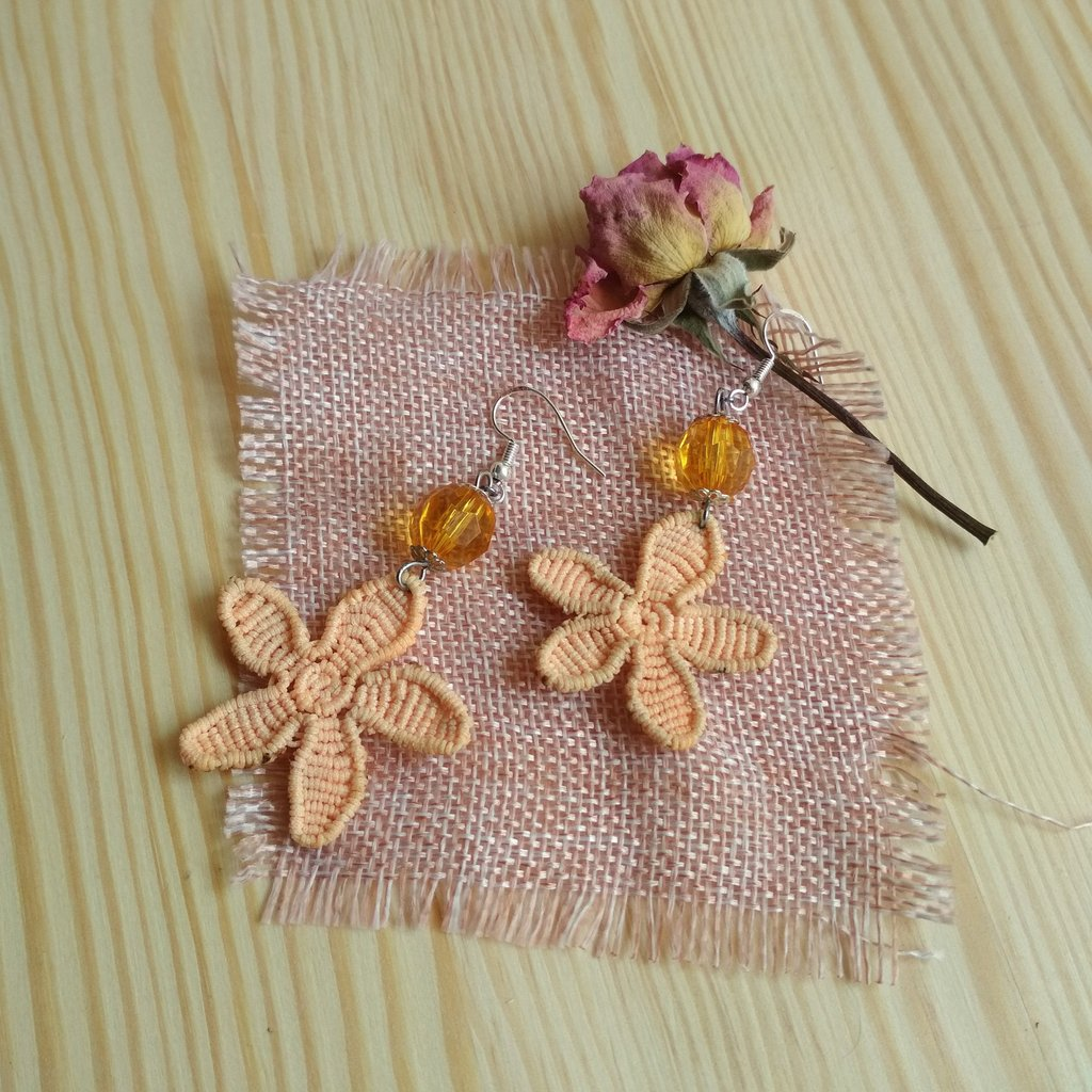 Excited to share the latest addition to my #etsyshop #Flowerearrings #orangeearrings #macrameearrings #bohojewelry #jewelry #earrings #bohochic #EtsySocial #etsystore #handmadebyme #handmadewithlove #uniquestuff #earlobe #girls #plantstrees #birthday https://buff.ly/2rReA4Lpic.twitter.com/4c1ermFcxd