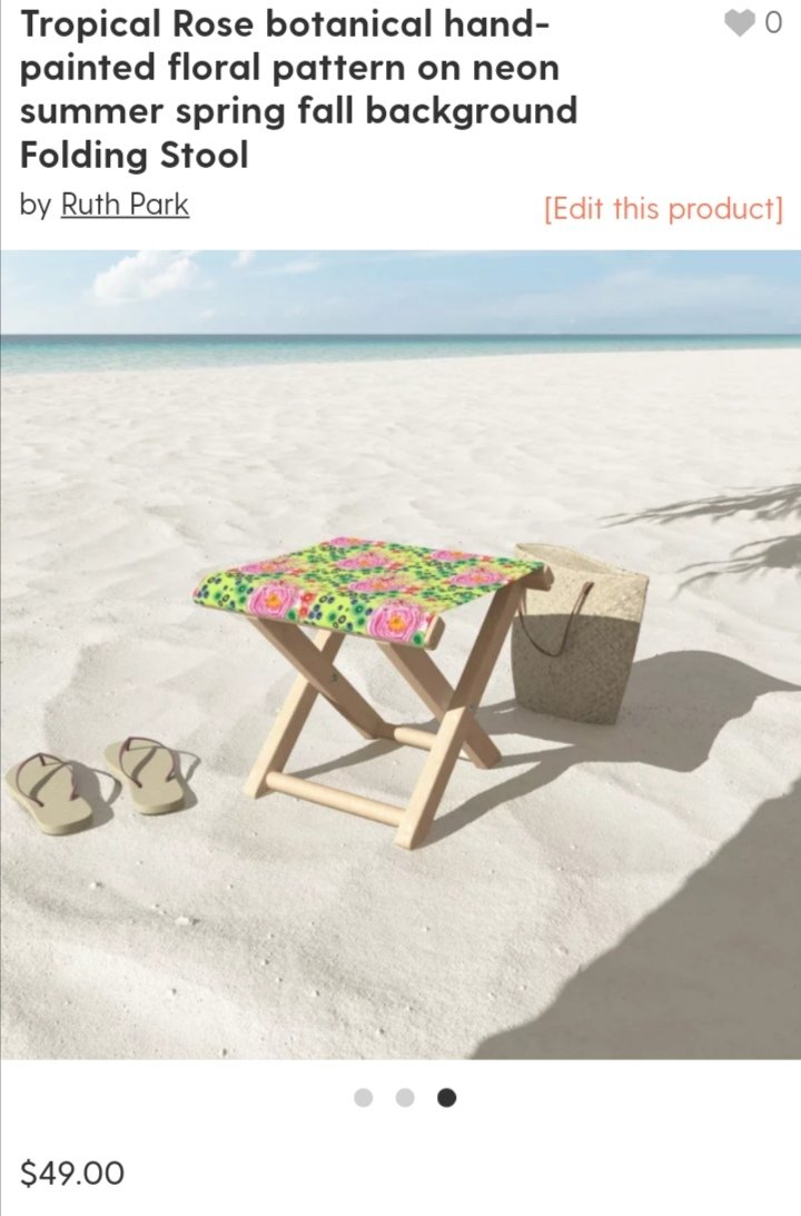 Celebrate Summer with my design of floral tropical roses on a folding chair. https://society6.com/product/tropical-rose-botanical-hand-painted-floral-pattern-on-neon-summer-spring-fall-background_folding-stool?sku=s6-11677643p119a271v883… #femaleartist #ink #tropical #jungle #roses #floral #island #sociey6pic.twitter.com/ppRBwktELz