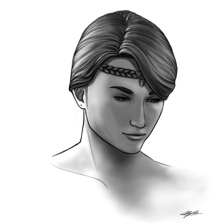 I drew a friend's character from #ESO. Her name is Gwynn! Just a simple portrait for fun, I enjoyed putting the light source to the side and behind for funtimes with shadows. :3   #portrait #digital #fanart #ElderScrollsOnline #templar #blackandwhite pic.twitter.com/HFb2UoS94y