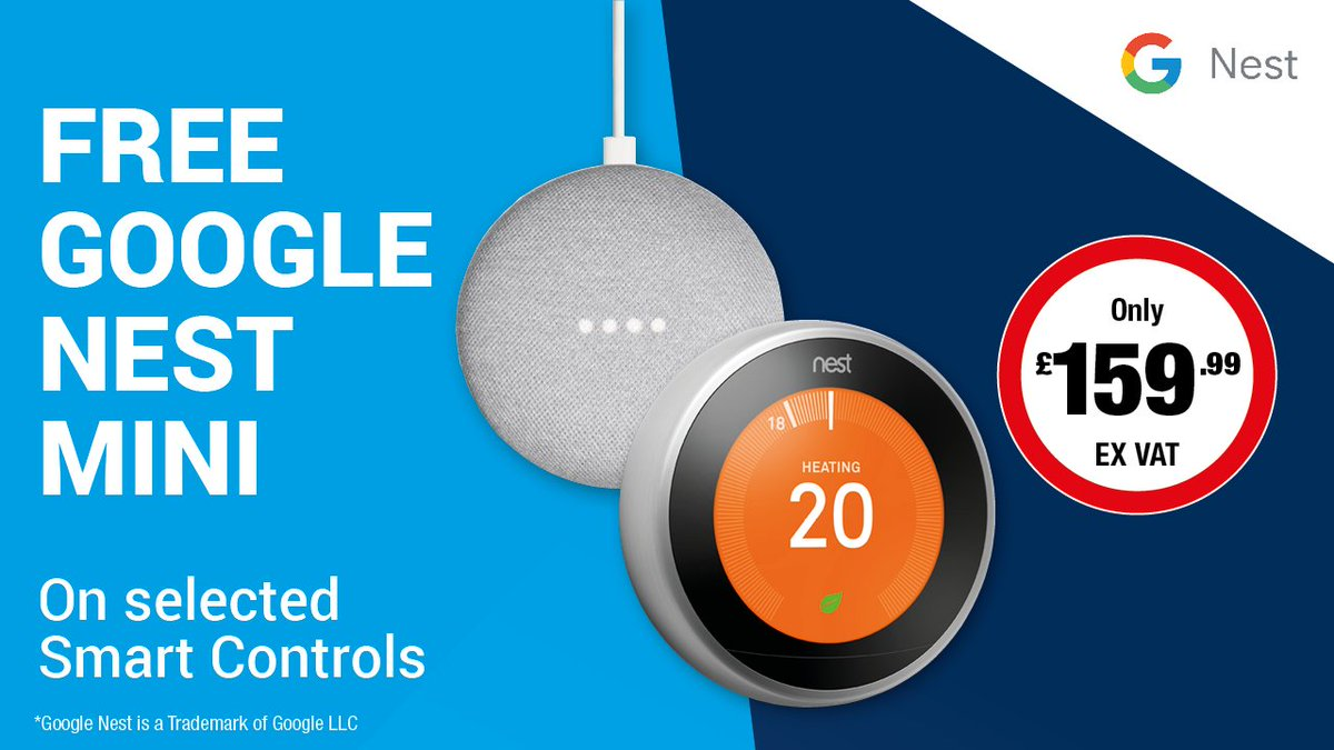 Stuck for the perfect Christmas present? Take a look at our deals on smart controls, with a free Google Nest Mini on selected products! Take a look at our website for more information http://ow.ly/1E8050x4yrd #CityPlumbingDealspic.twitter.com/tEi1p3y2gF
