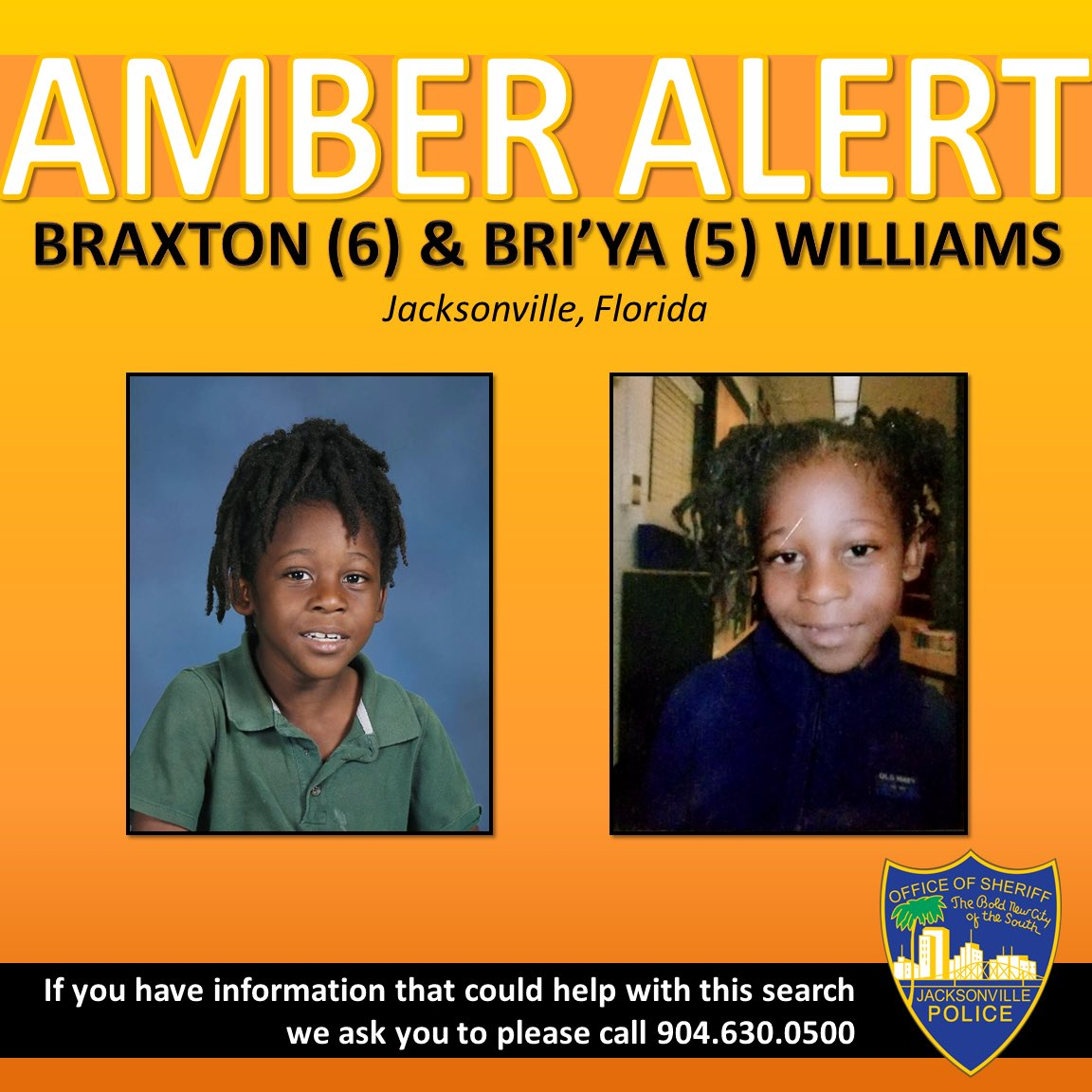 Two young children vanish from their Florida front yard