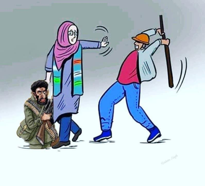 From Kashmir to Delhi to Palestine, modus operandi is the same.  Use women as a cover to shield terrorists when the police or army comes. When the police uses force, make it a women's rights issue and give it a gender spin. pic.twitter.com/eFT1YCl09u