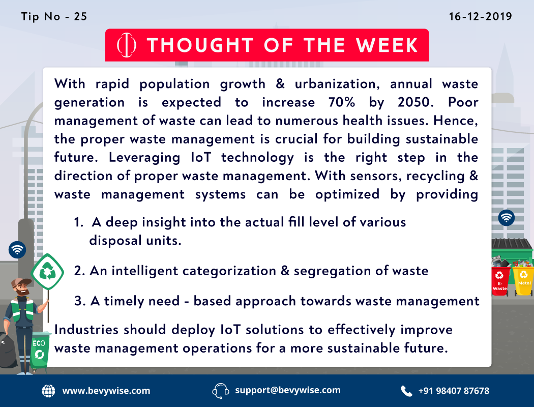 #tip of the week - 25 Industries should deploy #IoTsolutions to effectively improve #wastemanagement operations for a more #sustainablefuture.  #iot #iiot #industrialapplications #waste #sustainableliving #wastedisposal #sensors #sustainable #iottechnology #recyclingpic.twitter.com/cptaZ9yPNY