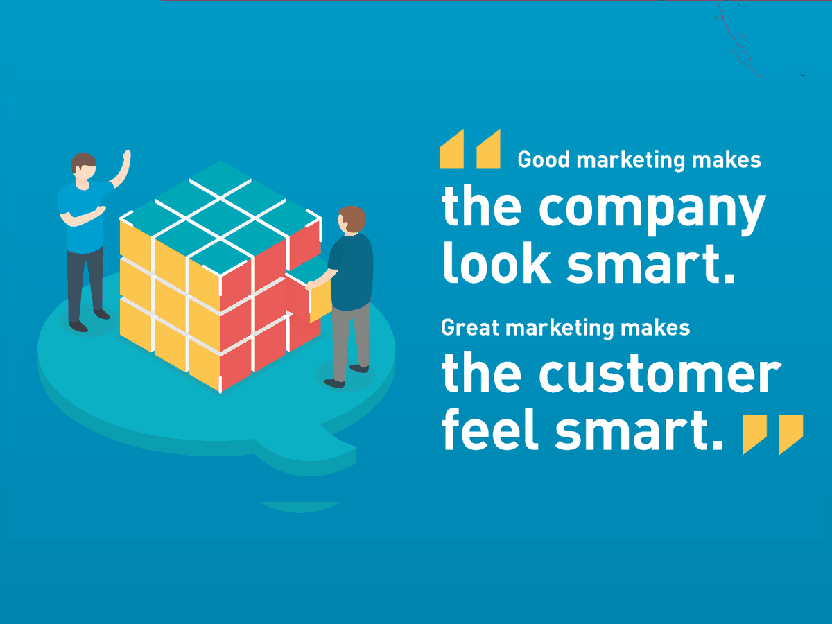 "#QuoteOfTheDay: ""Good marketing makes the company look smart. Great marketing makes the customer feel smart.""—Joe Chernov  #BusinessQuote #MarketingTips #SmallBusiness #OnlineMarketing #DigitalMarketing #MondayMotivation #MondayMorning  #smm #socialmediamarketing #Startupspic.twitter.com/Ibzp91Vjh3"