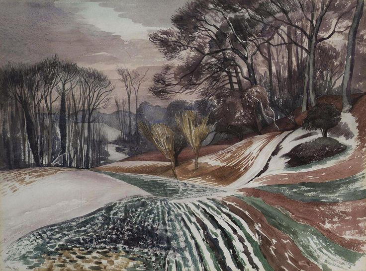 Winter Evening, Wormingford by John Northcote Nash exhib. 1967 (Private Collection). Essex.