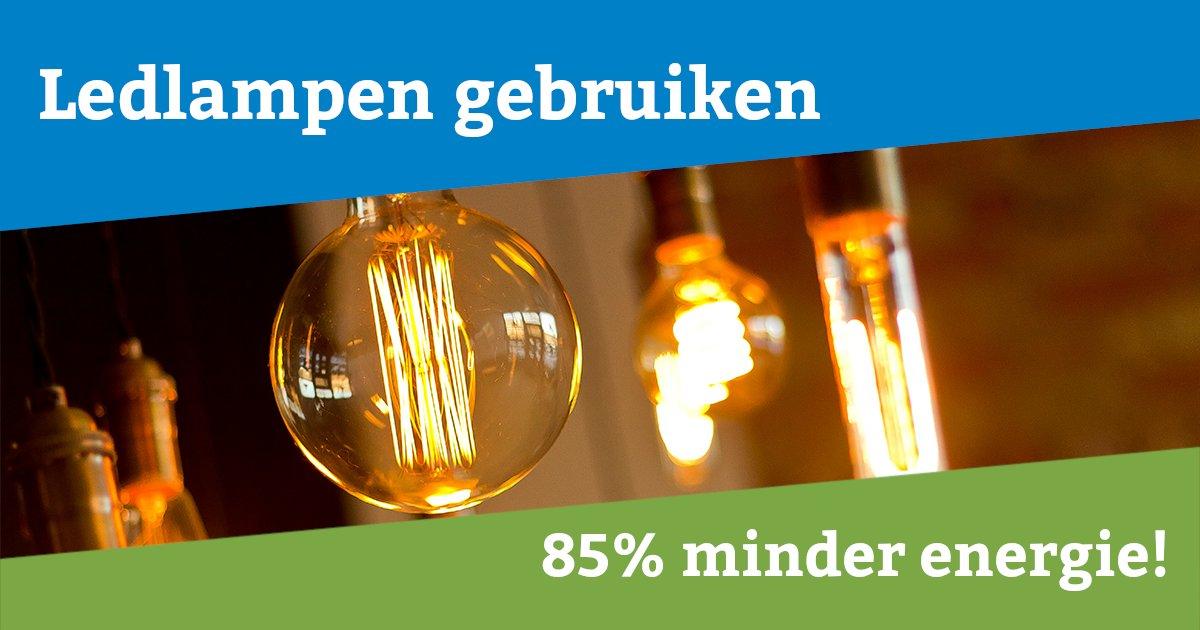 Heb jij al ledlampen in huis? Wist je wel dat ledlampen 85% minder energie gebruiken dan een gloeilamp? Het is bovendien altijd een goed idee om oude lampen in huis te vervanger voor led, ook al zijn de oude lampen nog niet stuk. pic.twitter.com/HXbEmc4SuB