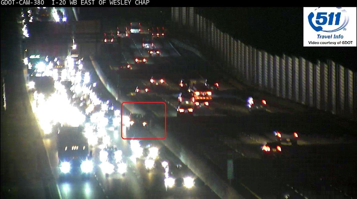 Crash on I-20/wb at Wesley Chapel Rd. in the left lane Delays leaving Lithonia wsbradio.com/traffic #ATLtraffic
