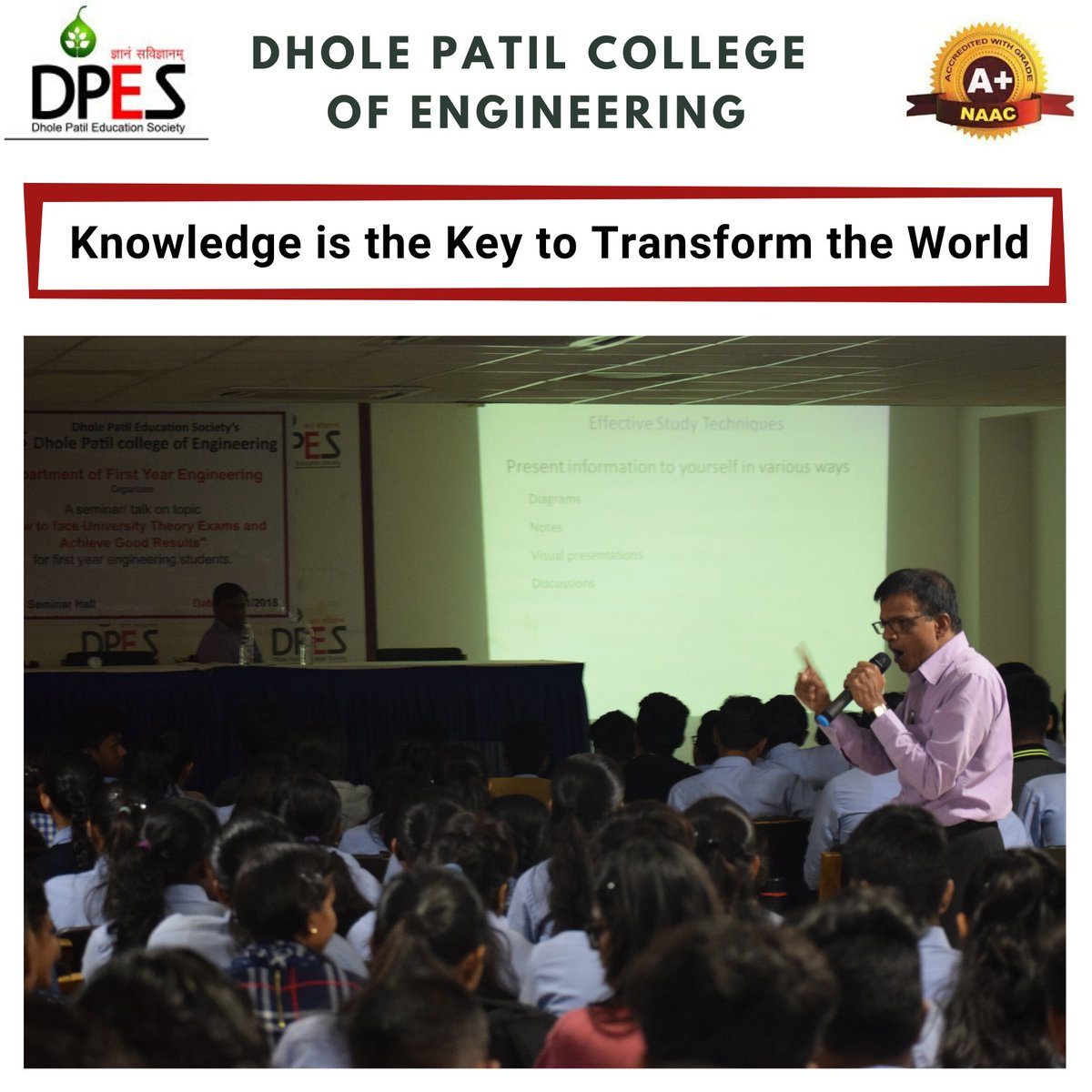 We at Dhole Patil College of Engineering, Keep in mind that the education we provide to our students is with the knowledge necessary for the attainment of their many future goals. #education #dpcoe #dpespune #knowledge #engineeringcollege #engineeringstudents #engineeringpic.twitter.com/SaFxMAPMiS