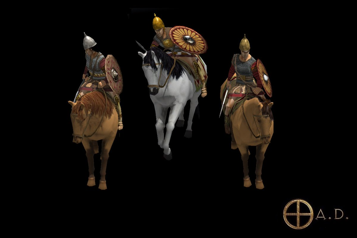 HISPANIC HEAVY CAVALRY  New Unit Textures for @play0ad Alpha 24 - Most of the unit textures of the #Iberian faction has been reworked. Here is a sample of a Mercenary Hispanic Cavalry for the #Carthaginian faction. More free and open-source #AncientWarfare stuff at @play0adpic.twitter.com/8XkQUP8wXH