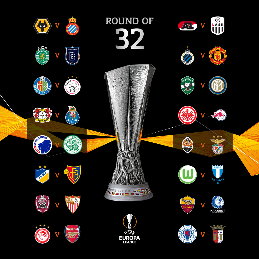 🔥 Round of 32 draw 🔥  Sum up your reaction with a GIF 📱  #UELdraw