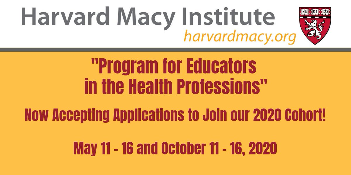 Applications open for our 2020 #HMIEducators course in May and October! Grow as a #MedEd & #HPE #Educator #Leader #Mentor #Innovator & #Researcher! Faculty include @HollyGoodMD @KristinaDzara @greyscalespaces @LizGaufberg @SubhaRamani @michelleschmude bit.ly/2Bg7Z8d