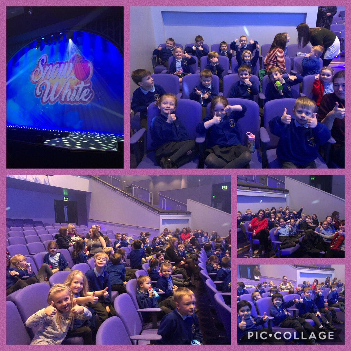 We our all panto ready @TheBrindley . All very excited indeed. We are right the front as well @mattdallen82 pic.twitter.com/LtMjIHIT8v