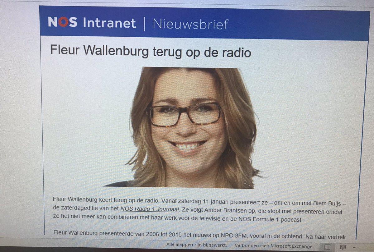 Fleur Wallenburg Will Present Radio 1 News On Saturday Teller Report