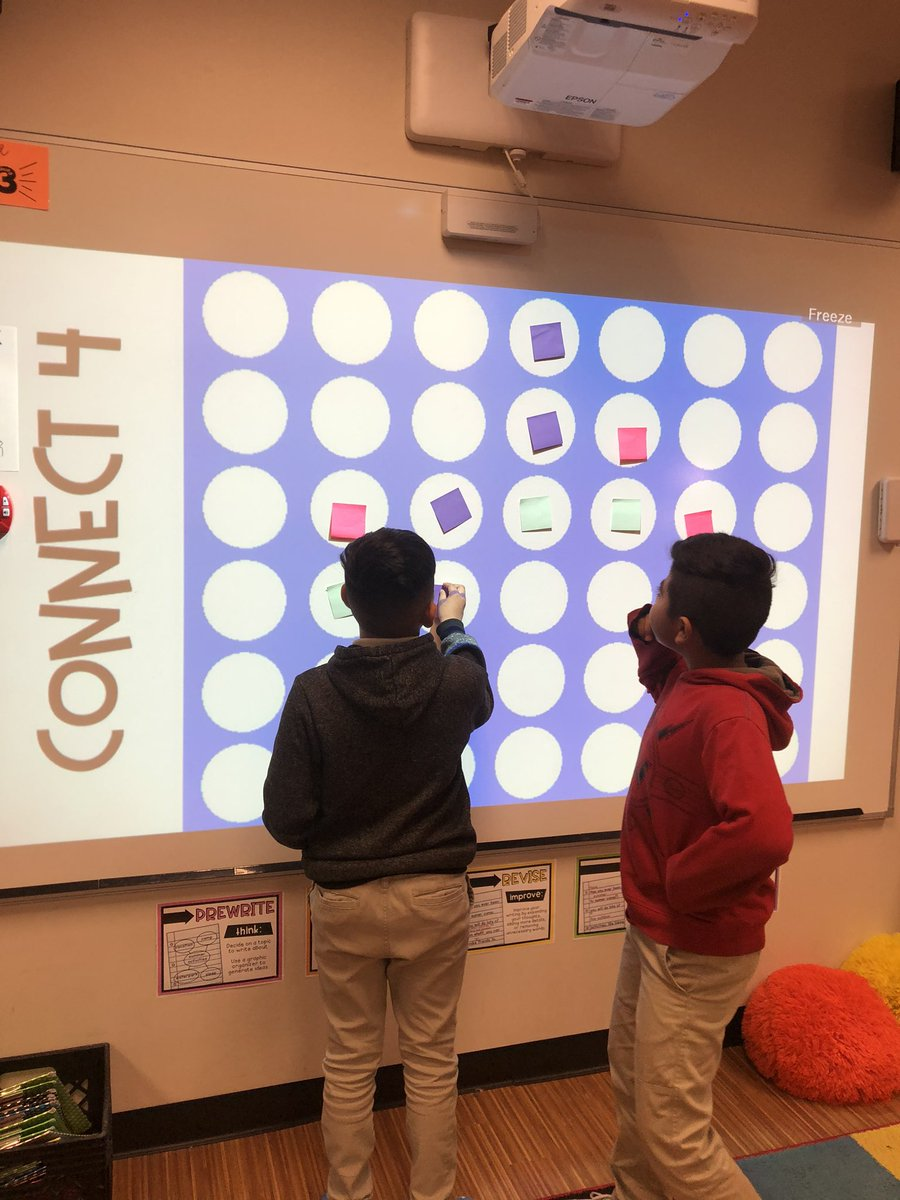 Reviewing for Reading MOY @CBEBears with a game of Connect 4! #risdace #risdgreatness #4thgrade