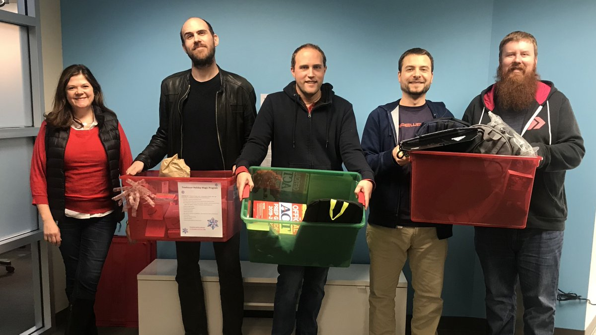 Shoutout to #ProbablyMonsters team members who volunteered to bring gifts for older youth and young adults through the Holiday Magic Program @TreehouseTweets. Electronics, gift cards, books, clothing - and most of all, 💗 for all in the foster care program!