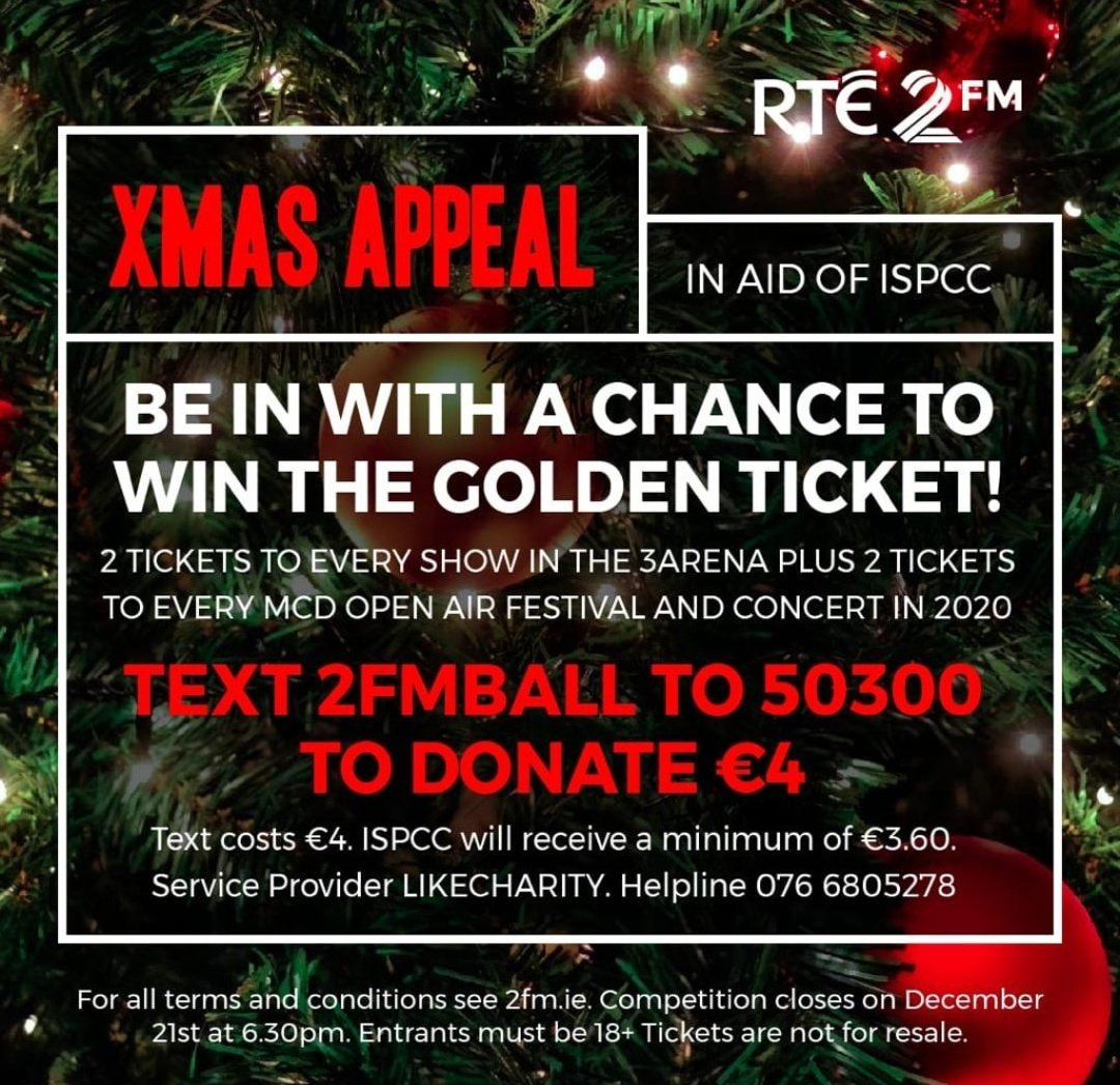 This is a truly special cause to support and an incredible prize too. #GoldenTicket @ISPCCChildline