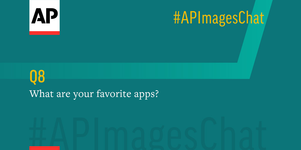 Q8: @vcaivano, what are your favorite apps? #APImagesChat