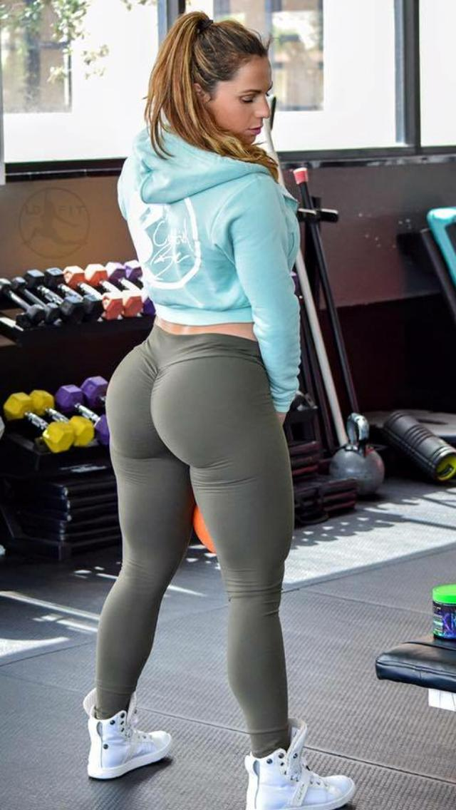 Girl Big Ass Yoga Pants