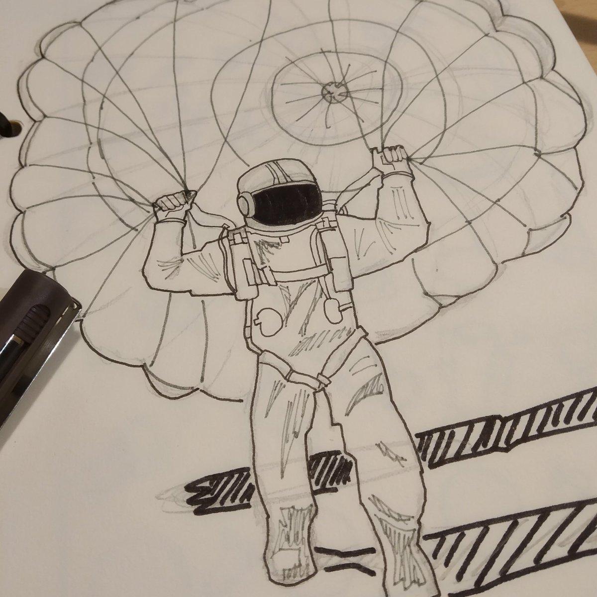 Ahí arriba es un mundo distinto... #Drawing #Dibujo #Sketching #InktoberDay9 #Swing