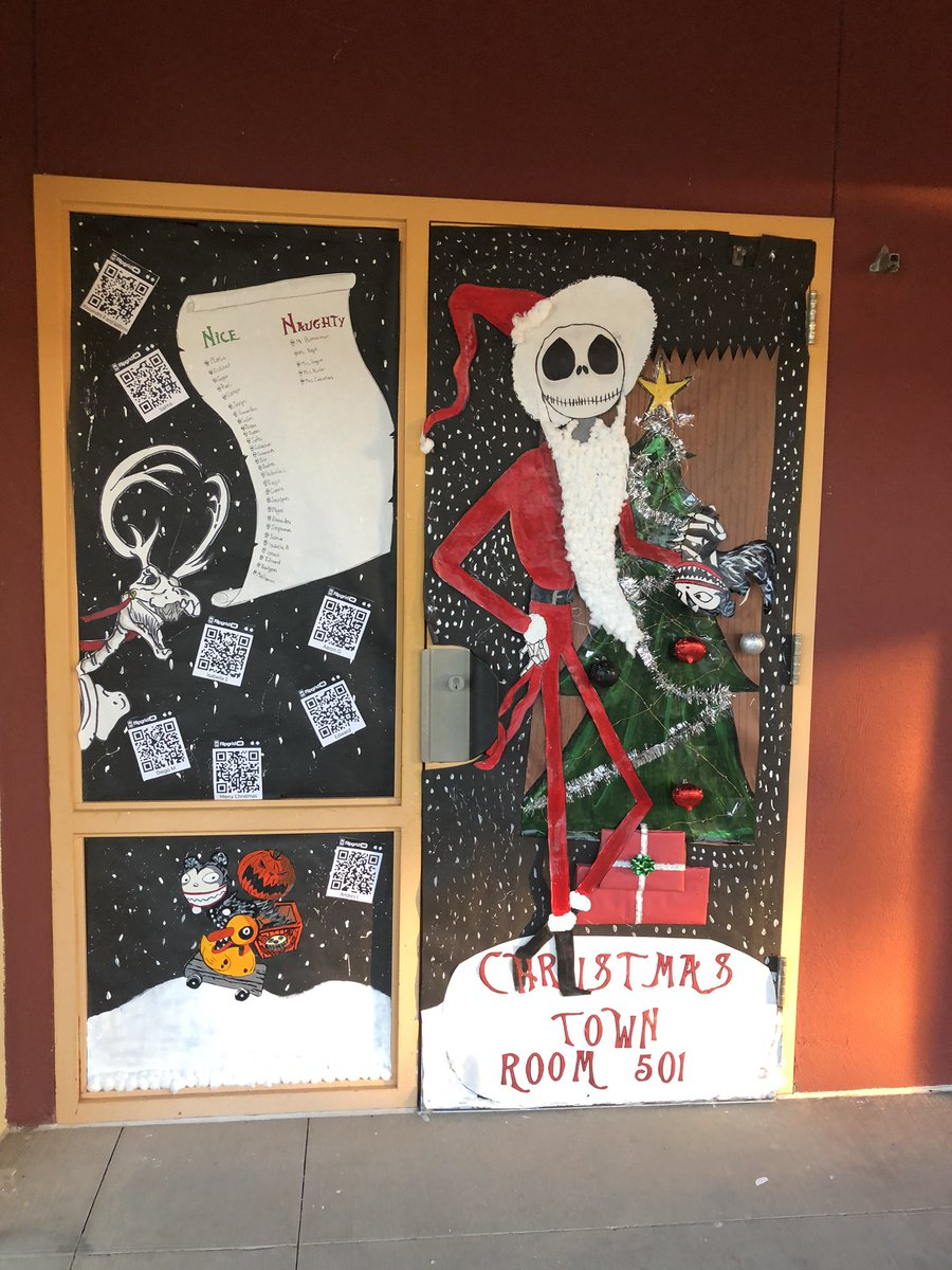 Checkout our Hand painted Christmas Door / Window decorations with some @Flipgrid AR 🎅🏻🎄🦌