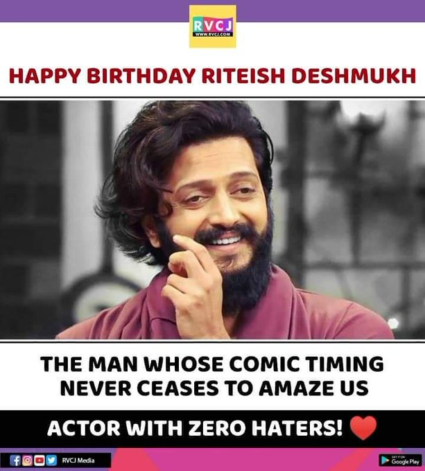 Happy Birthday Riteish Deshmukh!