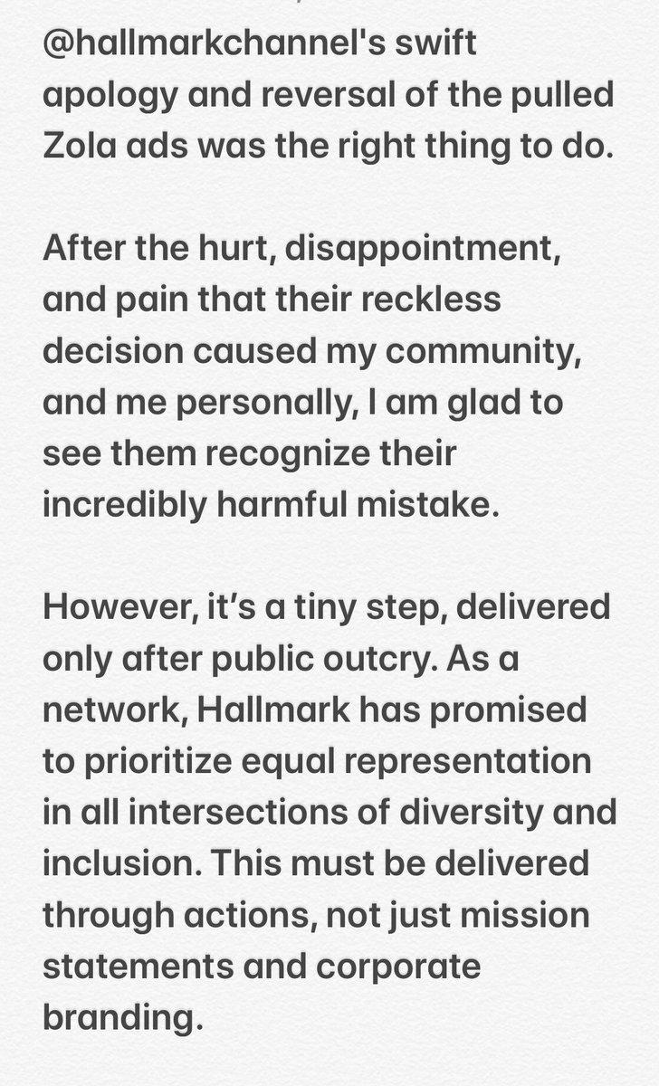 Attn: @hallmarkchannel. Our stories matter. Ready for that follow through.