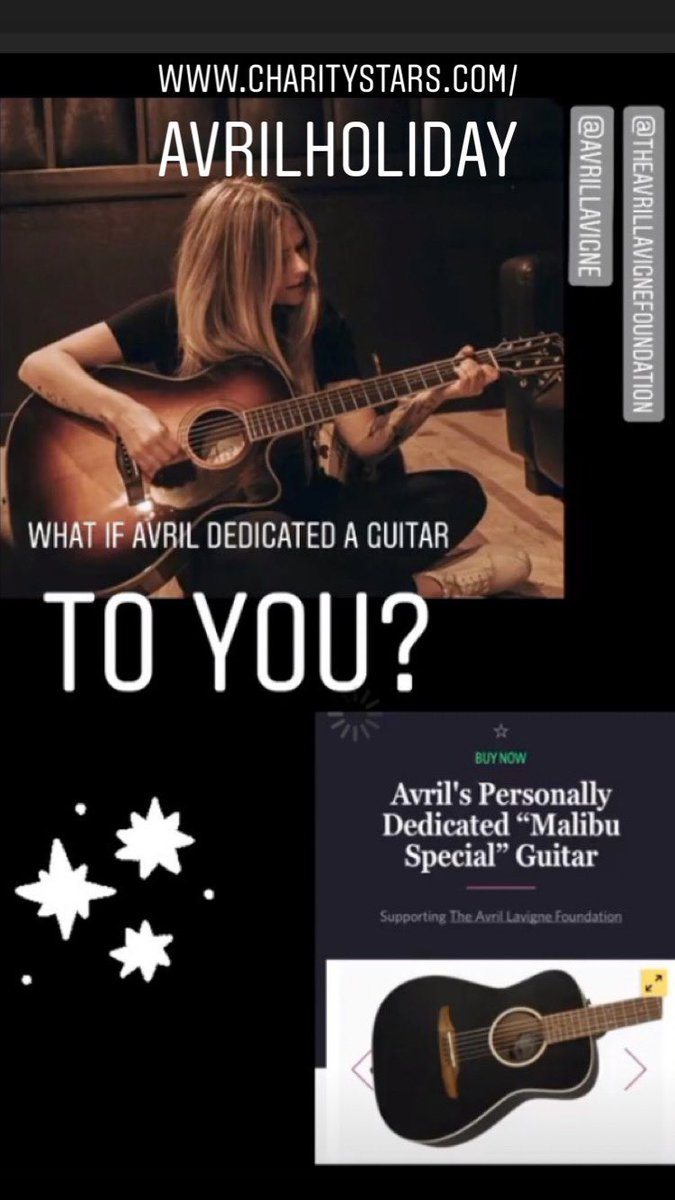 Bid now & help us #FightLyme à  Win clothing custom-made for Avril, personally dedicated Fender guitars & more! Avril gifts make the BEST holiday gifts for those you❤ @AvrilLavigne @AvrilFoundation @CharityStars