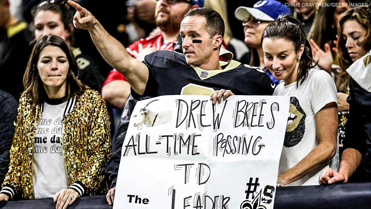 An NFL-record 540 TD passes.  Congrats from one Drew Brees to another 😆 https://t.co/r863Vm0f0c