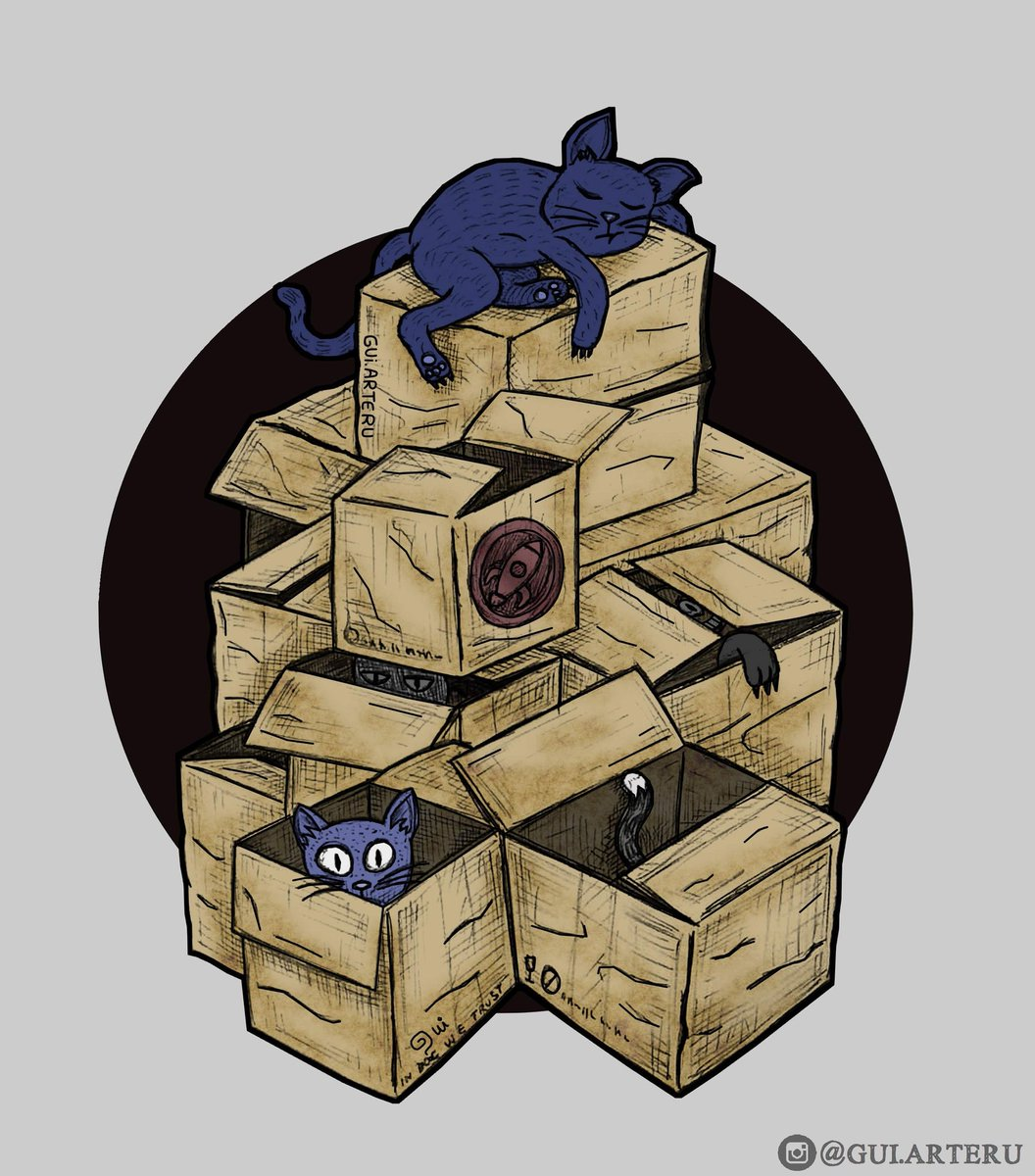 Pode parecer só uma #montanha de caixas, mas para esses #gatos é o #paraiso ... Mais um #desenhocolorido no #FireAlpacapic.twitter.com/Nu9qDerRec