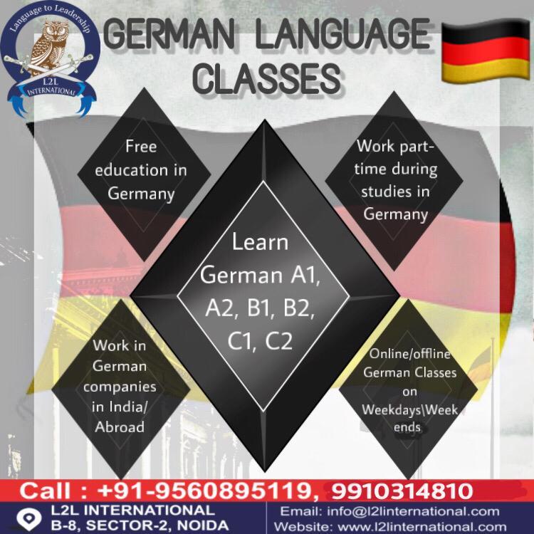 German Language Levels from Beginners to Advanced: A1, A2 , B1, B2, C1 & C2 #germanwordoftheday #learngerman #germanlanguage #german #deutschlernen #deutschesprache #germancourse #germanclass #deutschkurs #germany #lernen #germanschool  Know More...l2linternational.com/germanpic.twitter.com/gpmjq4gD5E