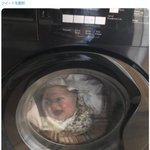 【衝撃】洗濯機の中の赤ちゃんを見て母親が悲鳴、その後シャツだと気づく !