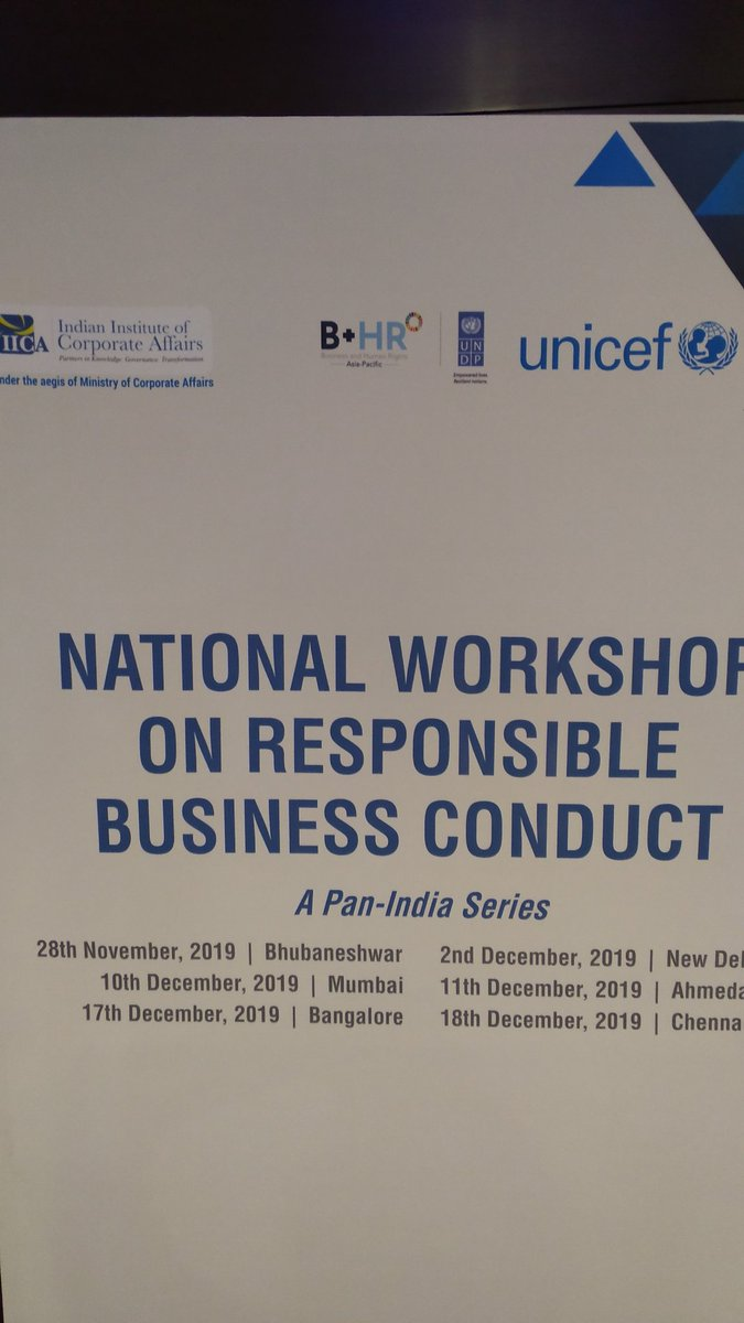 National workshop on #NGRBC  and #NAP  on #BHR ...Follow us for more updates... @BizHRAsia_UNDP  @UNDP_India  @dadhichgarima1  @UNICEFIndia