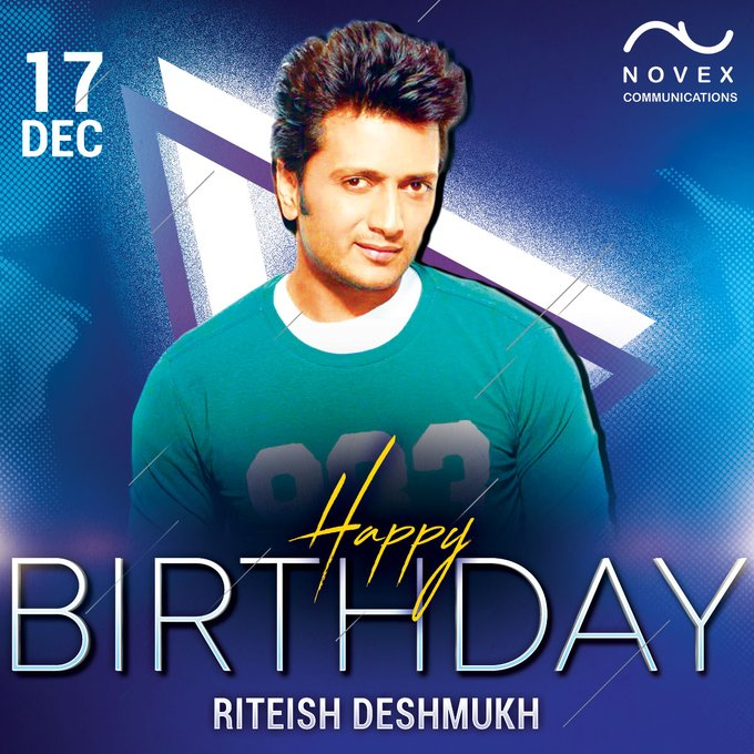 Happy Birthday to Riteish Deshmukh
