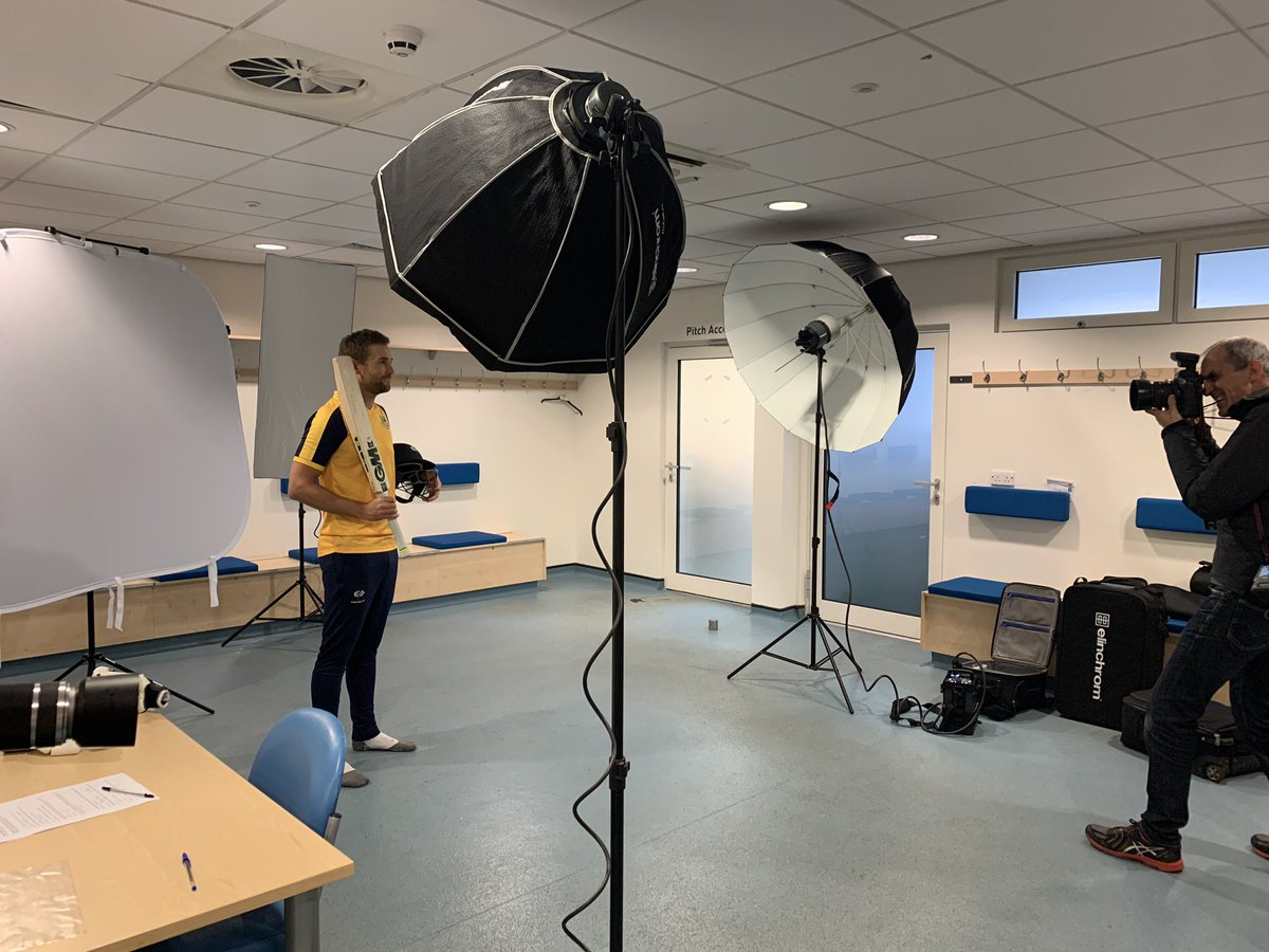 He's arrived, @YorkshireCCC's newest signing @dmalan29 getting his 2020 season pictures in for both the white ball & red ball campaigns. 📸🏏#YCCC #bbccricket