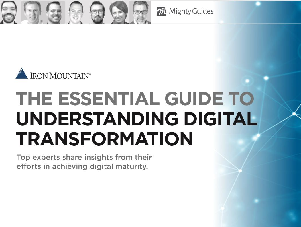 The Essential Guide to Understanding Digital Transformation: Top experts share insights from their efforts in achieving digital maturity. Discover what digital transformation is and how to ensure your company is ready. @IronMountainhttps://www.ironmountain.com/resources/best-practice-guides/e/essential-guide-understanding-digital-transformation…