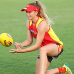 Image for the Tweet beginning: AFLW player Kalinda Howarth has