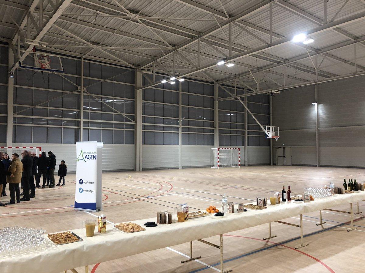 Hier inauguration de l'Espace sportif Antoine LOMET : Enfin le Lycée du même nom a son gymnase, enfin 15 associations (Badminton, etc...) auront des infrastructures dignes de ce nom avec l'ASPTT comme club résident😀 #Engagement84 #paroletenue